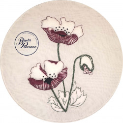 Coquelicot broderie-boutis