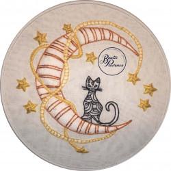 Rêve de chat broderie-boutis